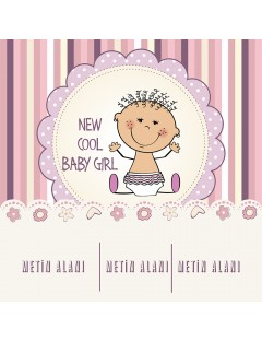 Baby Shower Afişi New Cool Girl - Online Afiş Tasarla