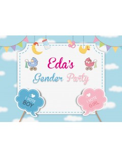 Baby Shower Afişi Gender Party - Online Afiş Tasarla