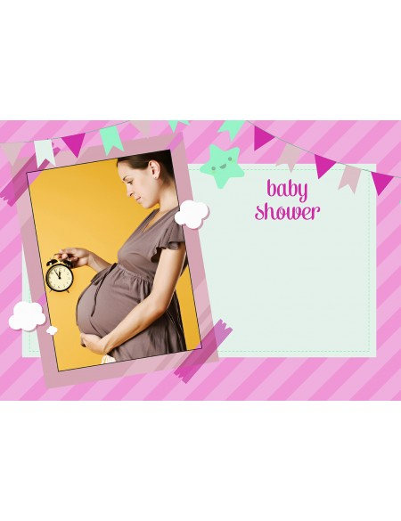 Baby Shower Afişi Pembe